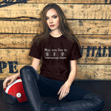May You Live in Interesting Times Unisex Short-Sleeve T-Shirt for Musicians + House Of HaHa Best Cool Funniest Funny T-Shirts