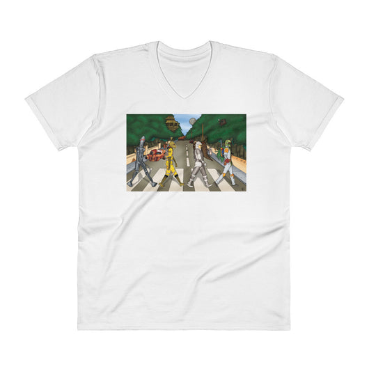 Bounty Road Street View Beatles Star Wars Mash Up Parody Men's V-Neck T-Shirt + House Of HaHa