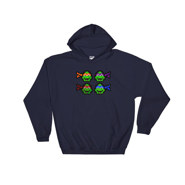 Ninja Turtles Perler Art Hooded Sweatshirt by Aubrey Silva