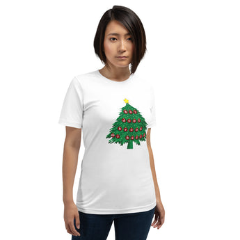 Funny Christmas Tree Unisex T-Shirt + House Of HaHa Best Cool Funniest Funny Gifts