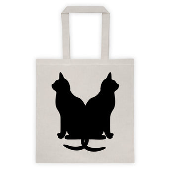 Black Cats Lucky Kitty Tote bag + House Of HaHa Best Cool Funniest Funny Gifts