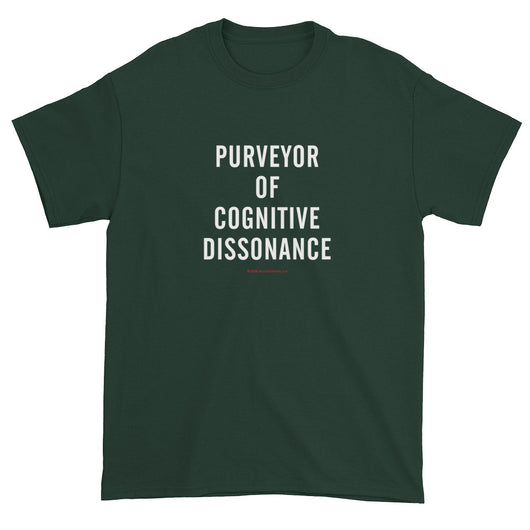 Edgy Cool Conspiracy Purveyor Cognitive Dissonance Men's Short Sleeve T-Shirt + House Of HaHa Best Cool Funniest Funny T-Shirts