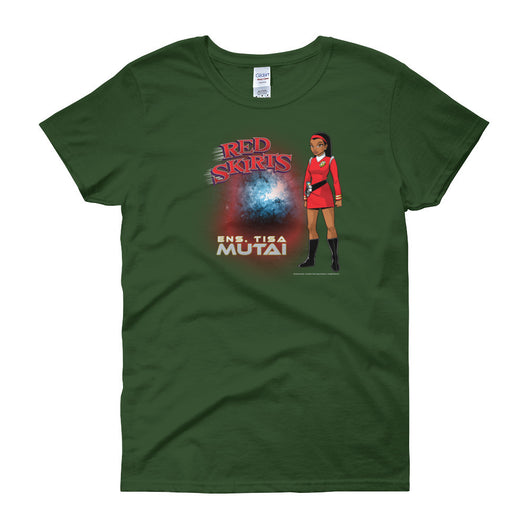 Red Skirts: Ensign Mutai  Women's Short Sleeve T-Shirt + House Of HaHa