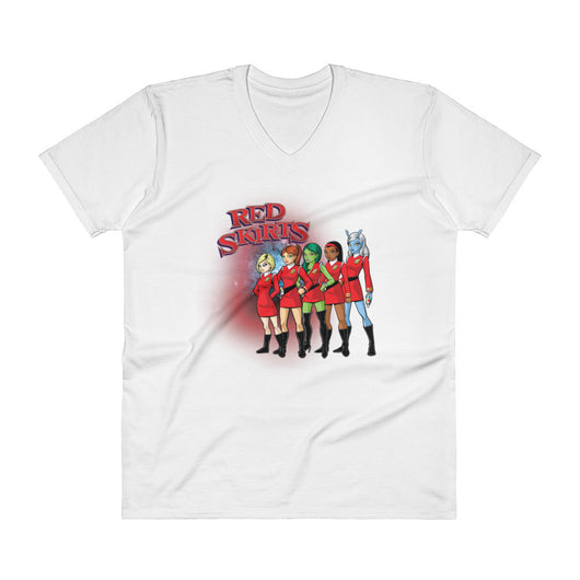 Red Skirts Security Men's V-Neck T-Shirt + House Of HaHa