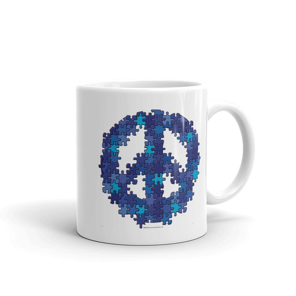 Puzzle Peace Sign Autism Spectrum Asperger Awareness Mug + House Of HaHa Best Cool Funniest Funny Gifts