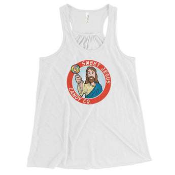Sweet Jesus Candy Company Women's Flowy Racerback Tank + House Of HaHa Best Cool Funniest Funny Gifts