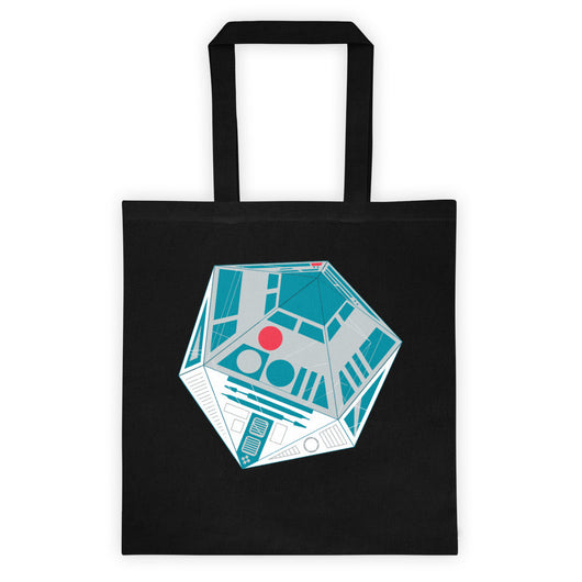 R2-D20 Star Wars Twenty Sided Gaming Die Double Sided Print Tote Bag + House Of HaHa Best Cool Funniest Funny T-Shirts