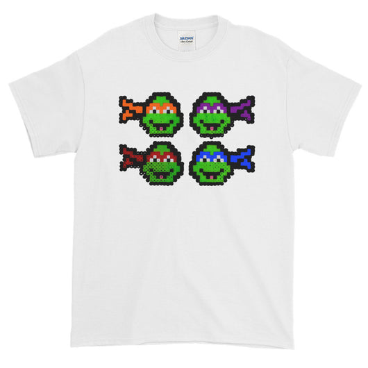 Ninja Turtles Perler Art Short-Sleeve T-Shirt by Aubrey Silva + House Of HaHa Best Cool Funniest Funny T-Shirts