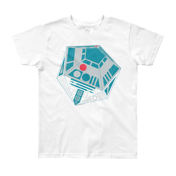 R2-D20 Star Wars Twenty Sided Gaming Die Youth Short Sleeve T-Shirt - Made in USA + House Of HaHa Best Cool Funniest Funny Gifts