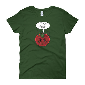 I am Fruit Tomato Guardians Groot Mashup Parody Women's short sleeve t-shirt + House Of HaHa Best Cool Funniest Funny Gifts
