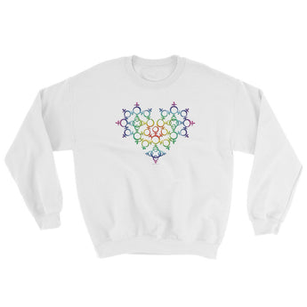 Rainbow Female Gender Venus Symbol Heart Love Unity Sweatshirt + House Of HaHa Best Cool Funniest Funny Gifts