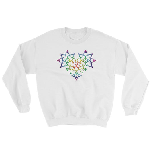 Rainbow Female Gender Venus Symbol Heart Love Unity Sweatshirt + House Of HaHa
