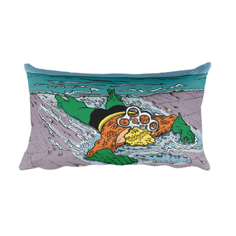 Please Recycle Death of Aquaman Parody Rectangular Pillow + House Of HaHa Best Cool Funniest Funny Gifts
