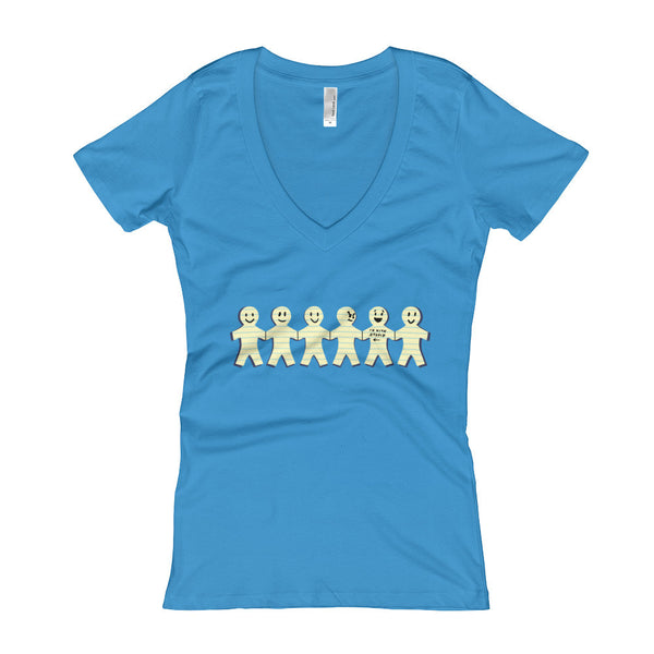 I'm with Stupid  Women's V-Neck T-shirt + House Of HaHa