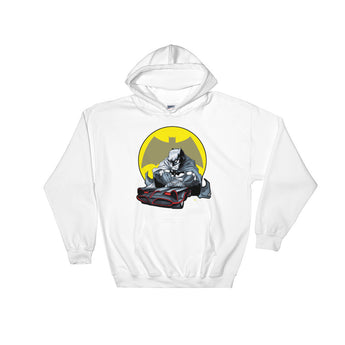 Lil' Batmobile Men's Heavy Hooded Hoodie Sweatshirt + House Of HaHa Best Cool Funniest Funny Gifts