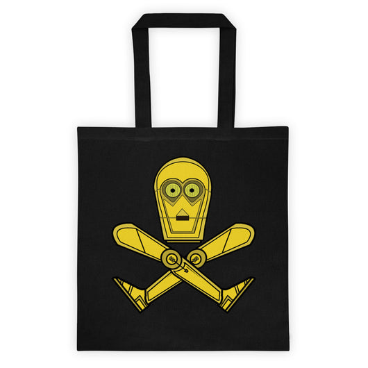 We Don't Like Your Kind C3-P0 Parody Skull + Crossbones Double Sided Print Tote Bag + House Of HaHa