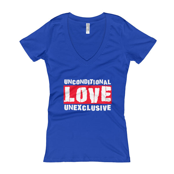 Unconditional Love Unexclusive Family Unity Peace Women's V-Neck T-shirt + House Of HaHa