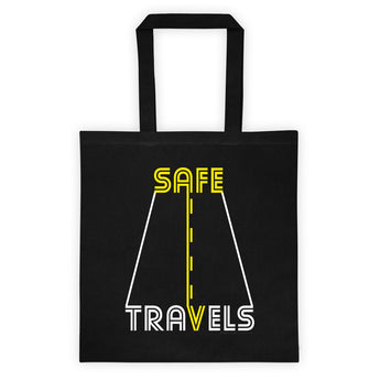 Safe Travels Vacation Road Trip Highway Driving Double Sided Print Tote Bag + House Of HaHa Best Cool Funniest Funny Gifts