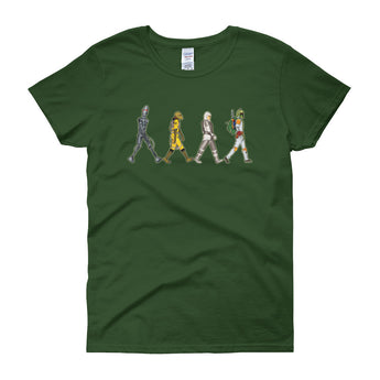 Bounty Road's Fab Four Beatles Star Wars Mash Up Parody Women's Short Sleeve T-Shirt + House Of HaHa Best Cool Funniest Funny Gifts