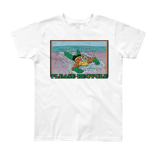 Please Recycle Youth Short Sleeve Aquaman Parody T-Shirt - Made in USA + House Of HaHa