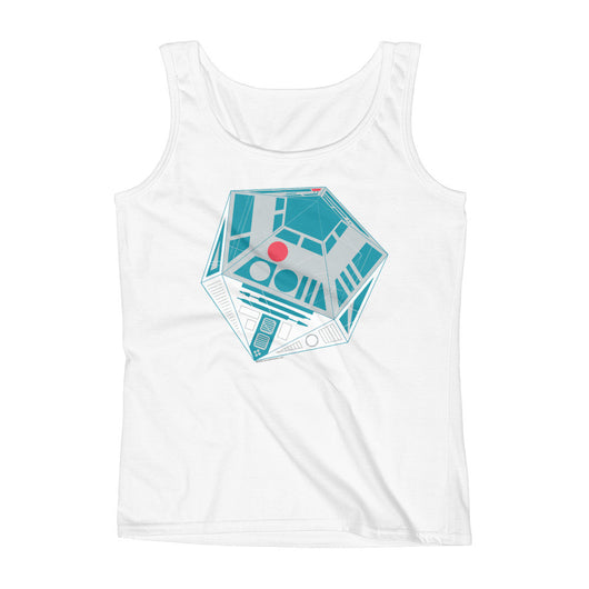 R2-D20 Star Wars Twenty Sided Gaming Die Ladies' Tank Top + House Of HaHa
