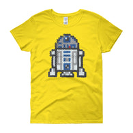 R2-D2 Perler Art Women's Short Sleeve T-Shirt by Aubrey Silva