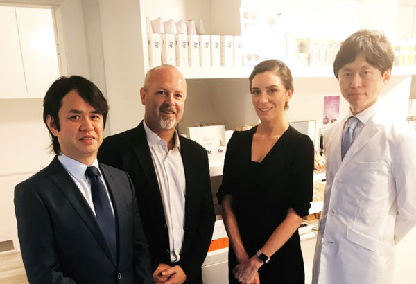 CEO of Dermapen, Stene Marshall and Dr Satoshi Hashimoto from Japan visit The Facial Room