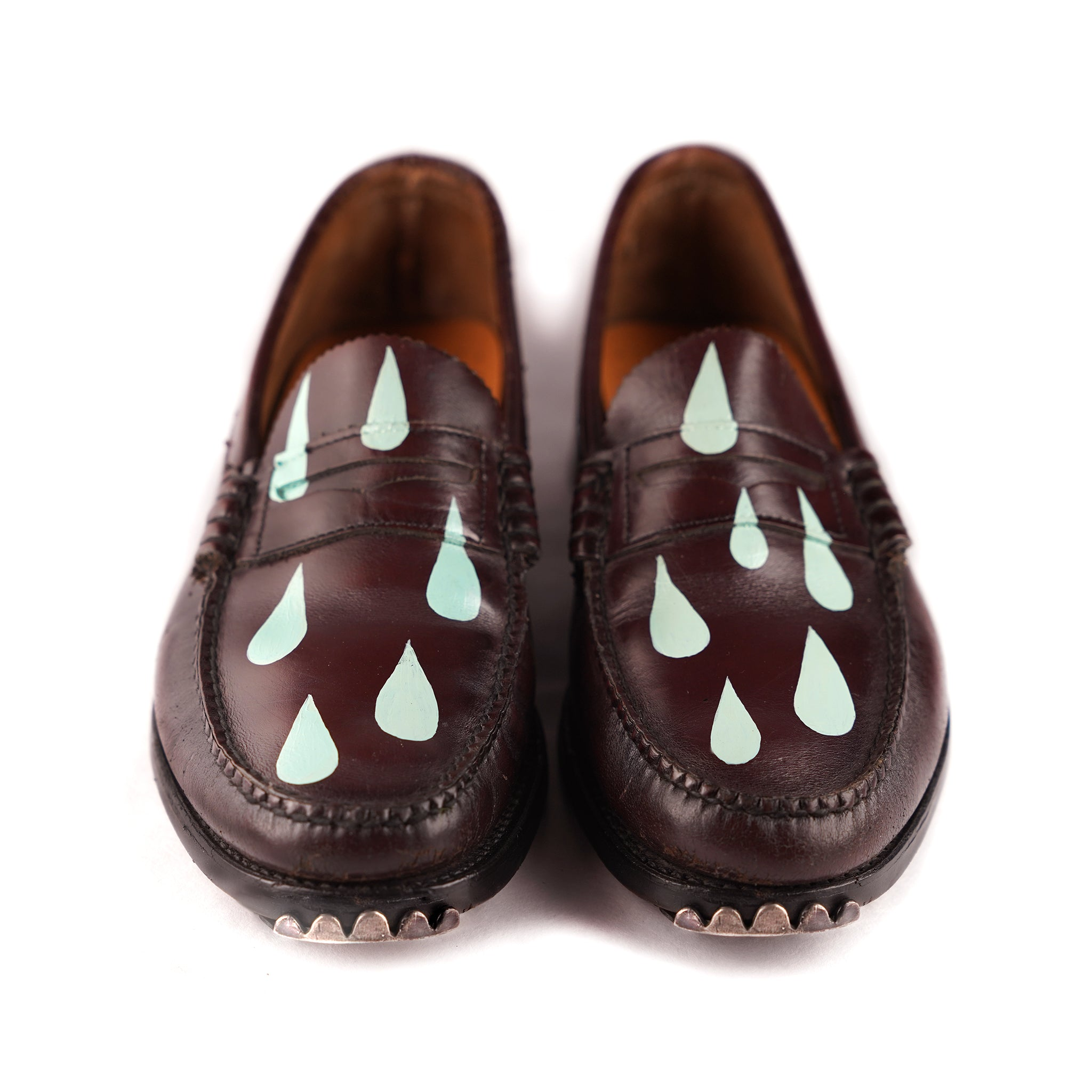 Oxblood+Seafoam Drippy Loafer