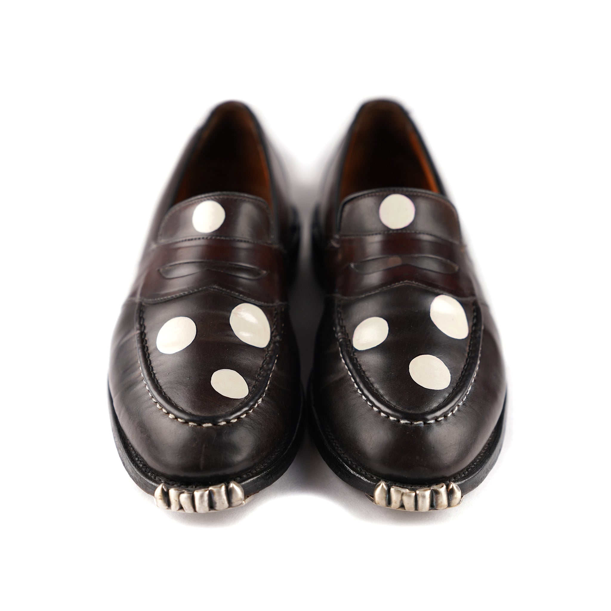 Dark Chocolate+White Spotty Loafer