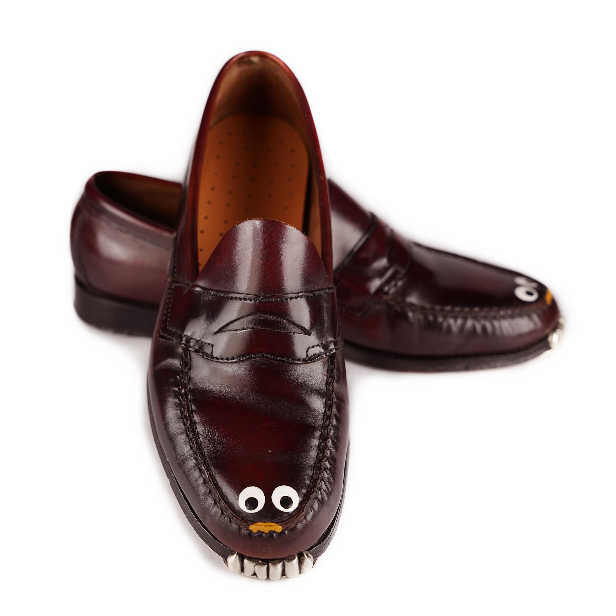 Oxblood Googly Eyed Puppy Loafer