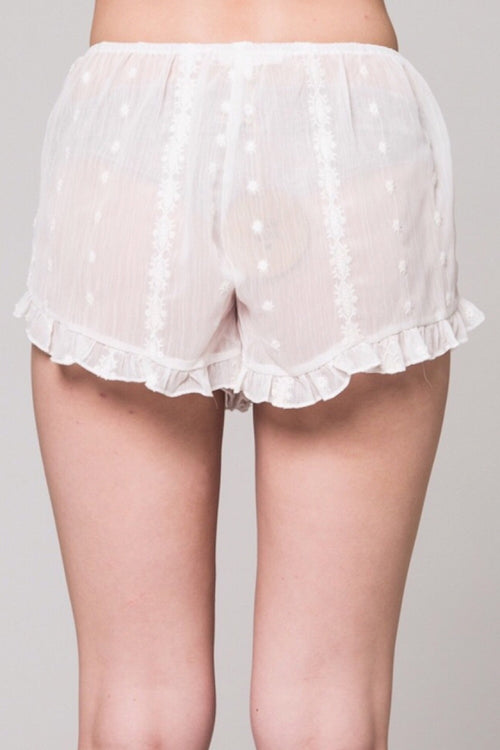 Whisper Sheer Embroidered Short