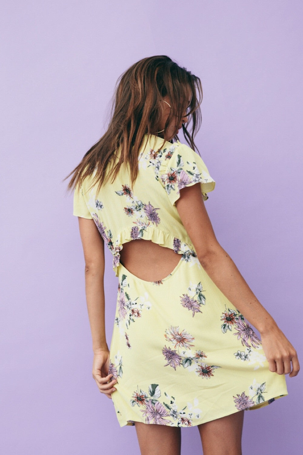Indigo Sunset Floral Dress