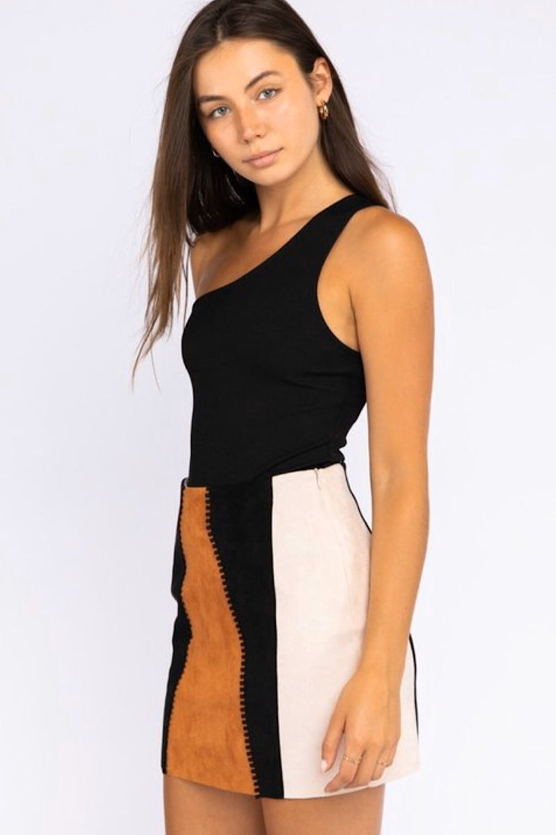 One Sided Story One Shoulder Bodysuit- FINAL SALE