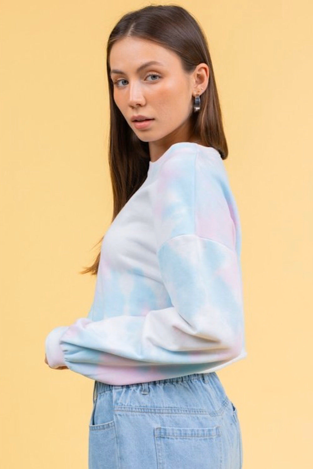 Clouded Judgment Cropped Sweater