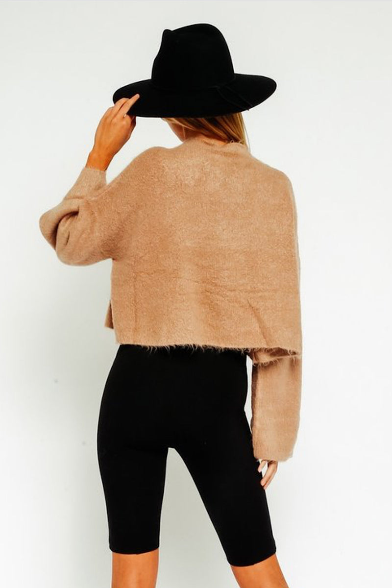 Walk This Way Mock Neck Sweater