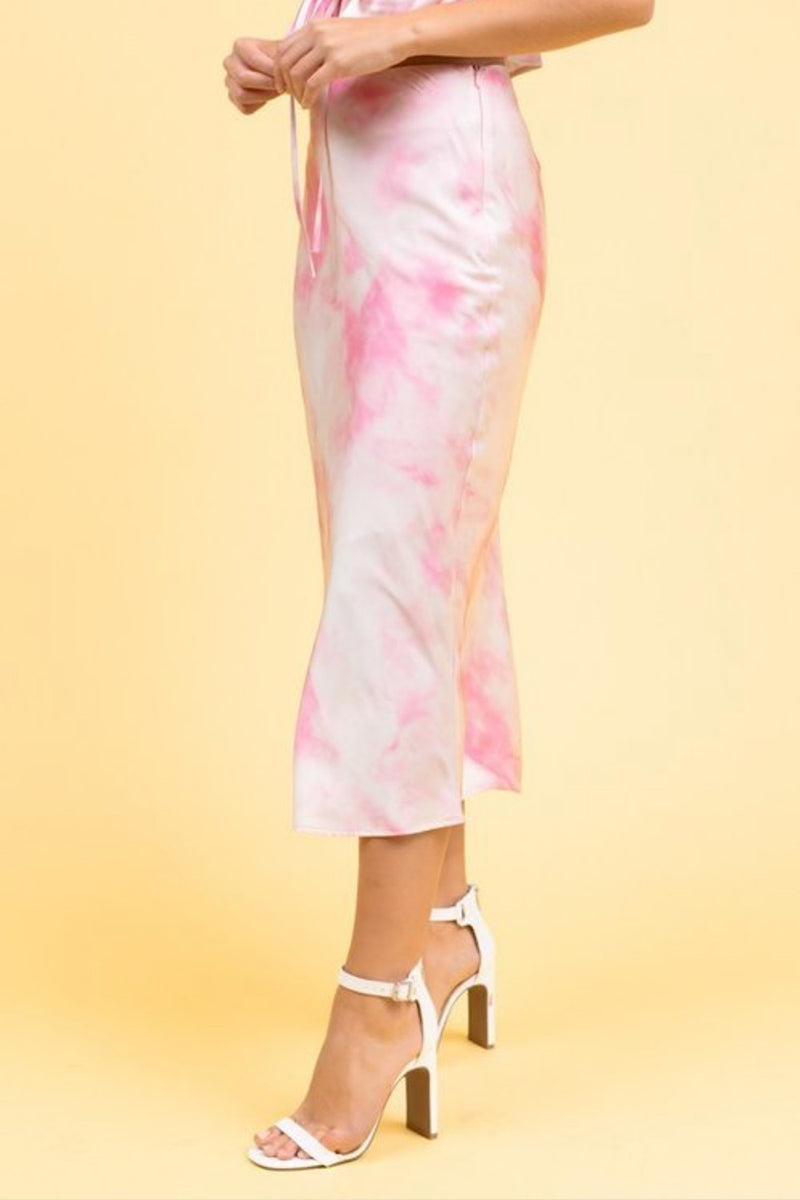 Smooth Talker Tie Dye Skirt- FINAL SALE