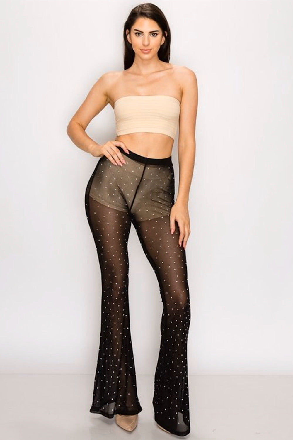 Show Some Flare Mesh Pants