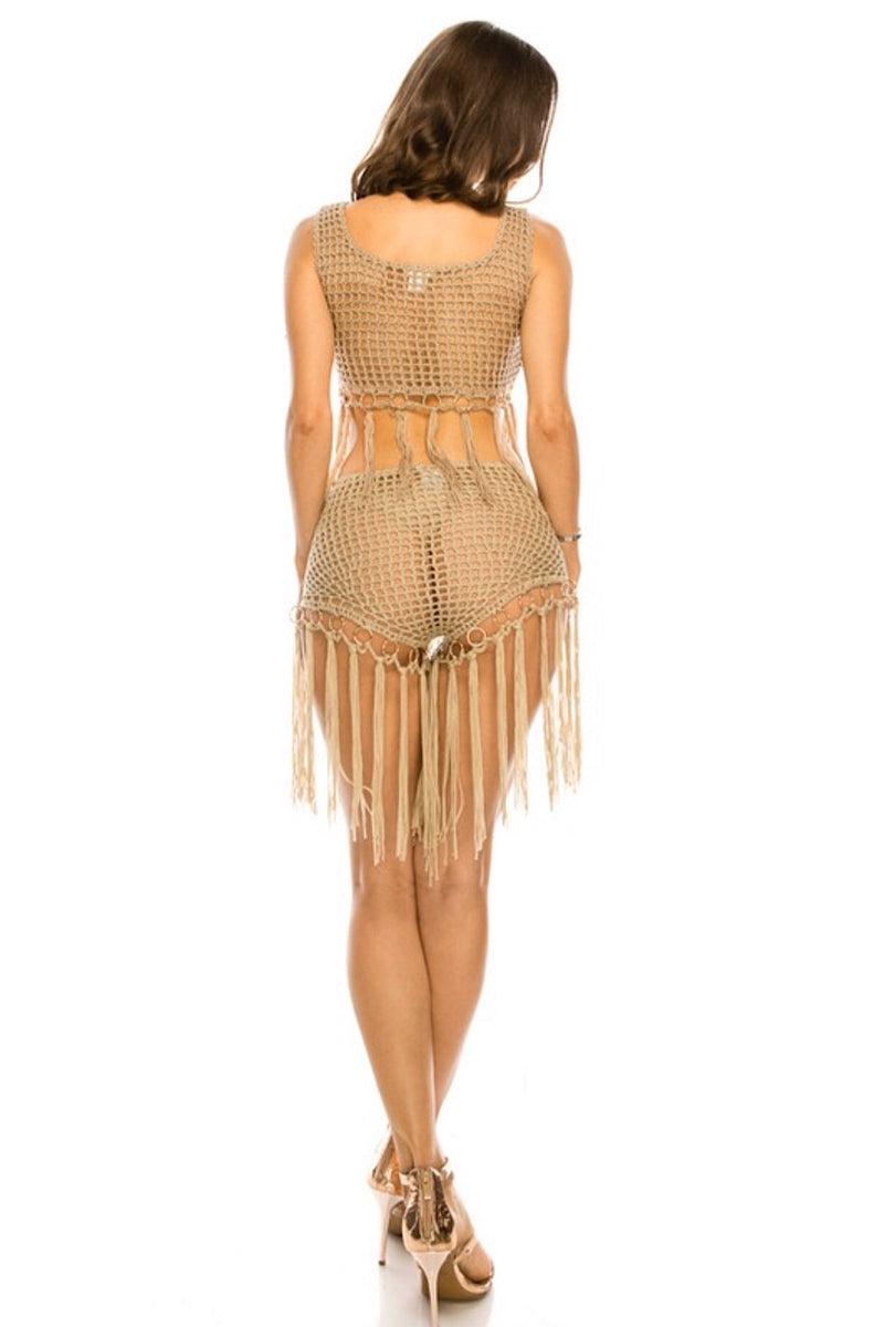Desert Heights Beige Crochet Top - FINAL SALE