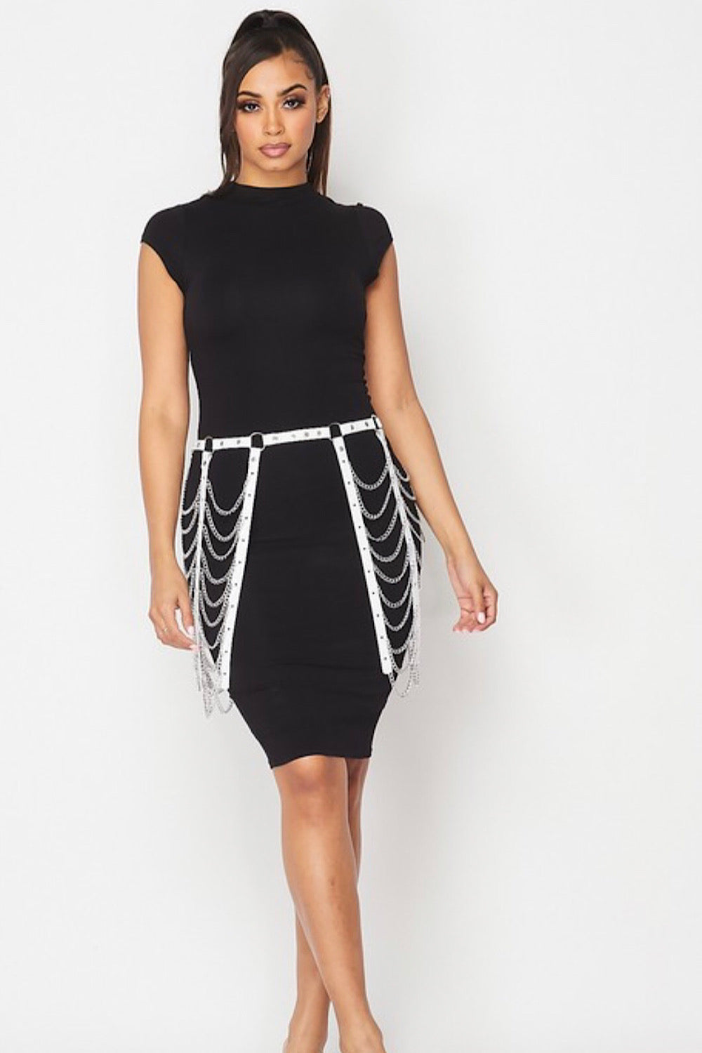 Link Up White Chain Skirt