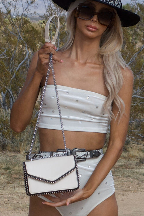 Take Me There Taupe Handbag
