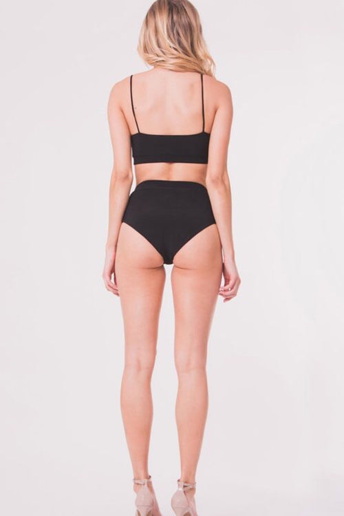 High Tides High Waist Black Bottoms