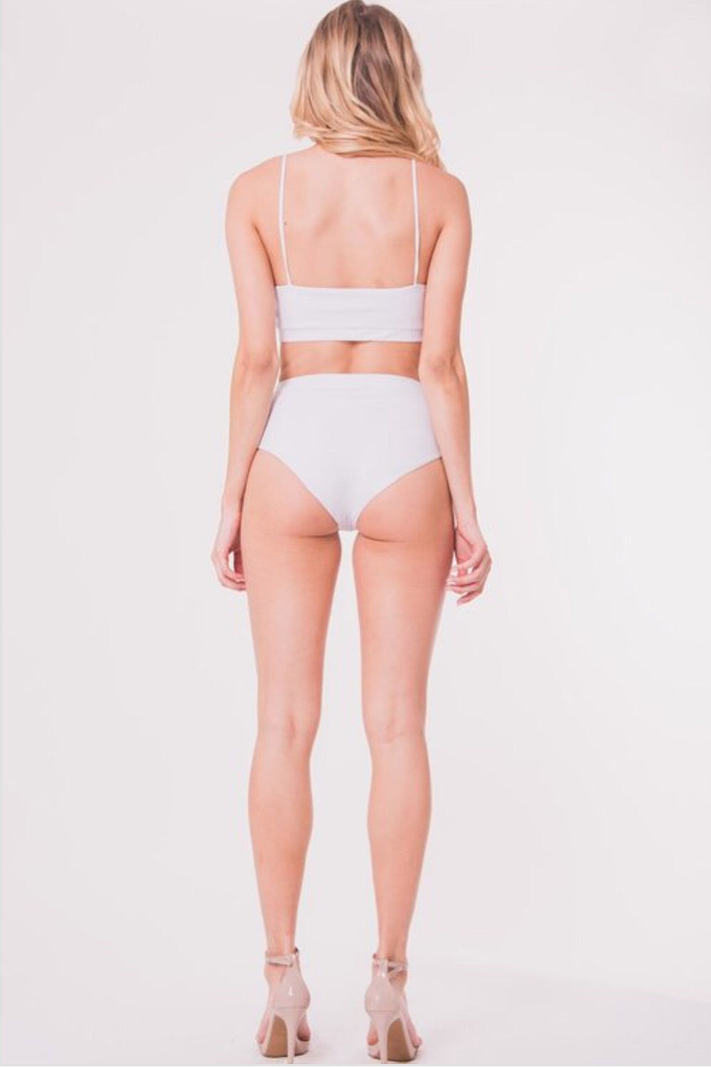 High Tides High Waist White Bottoms