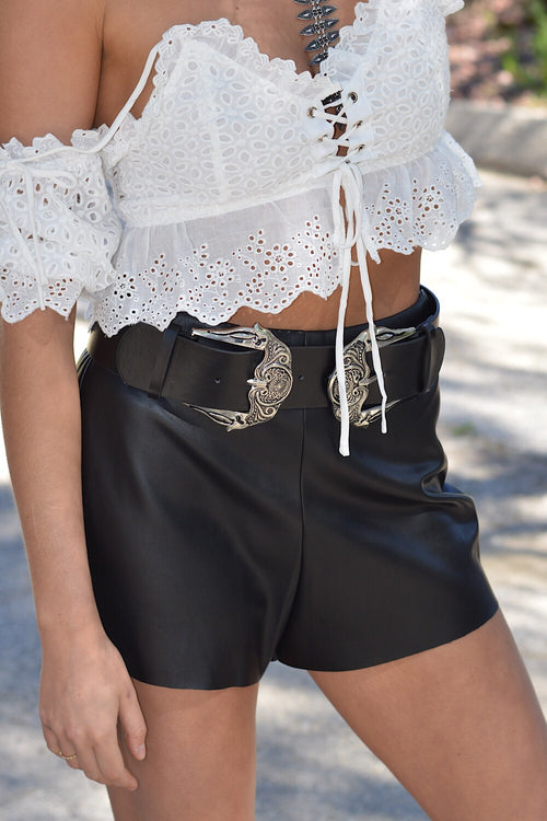 Rebel with a Cause Vegan Leather Shorts