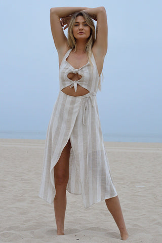 Island Breeze Lace Up Maxi