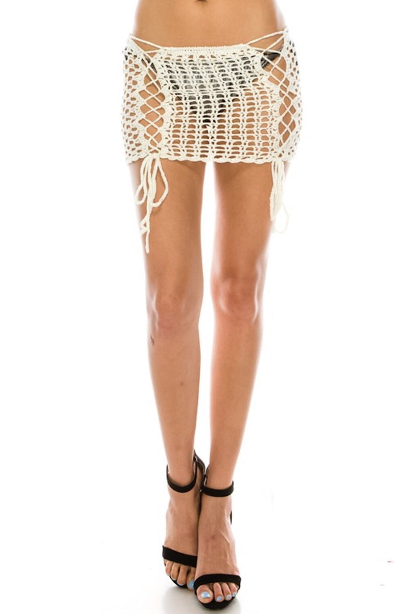 Break Up With Your Boyfriend Skirt White -FINAL SALE