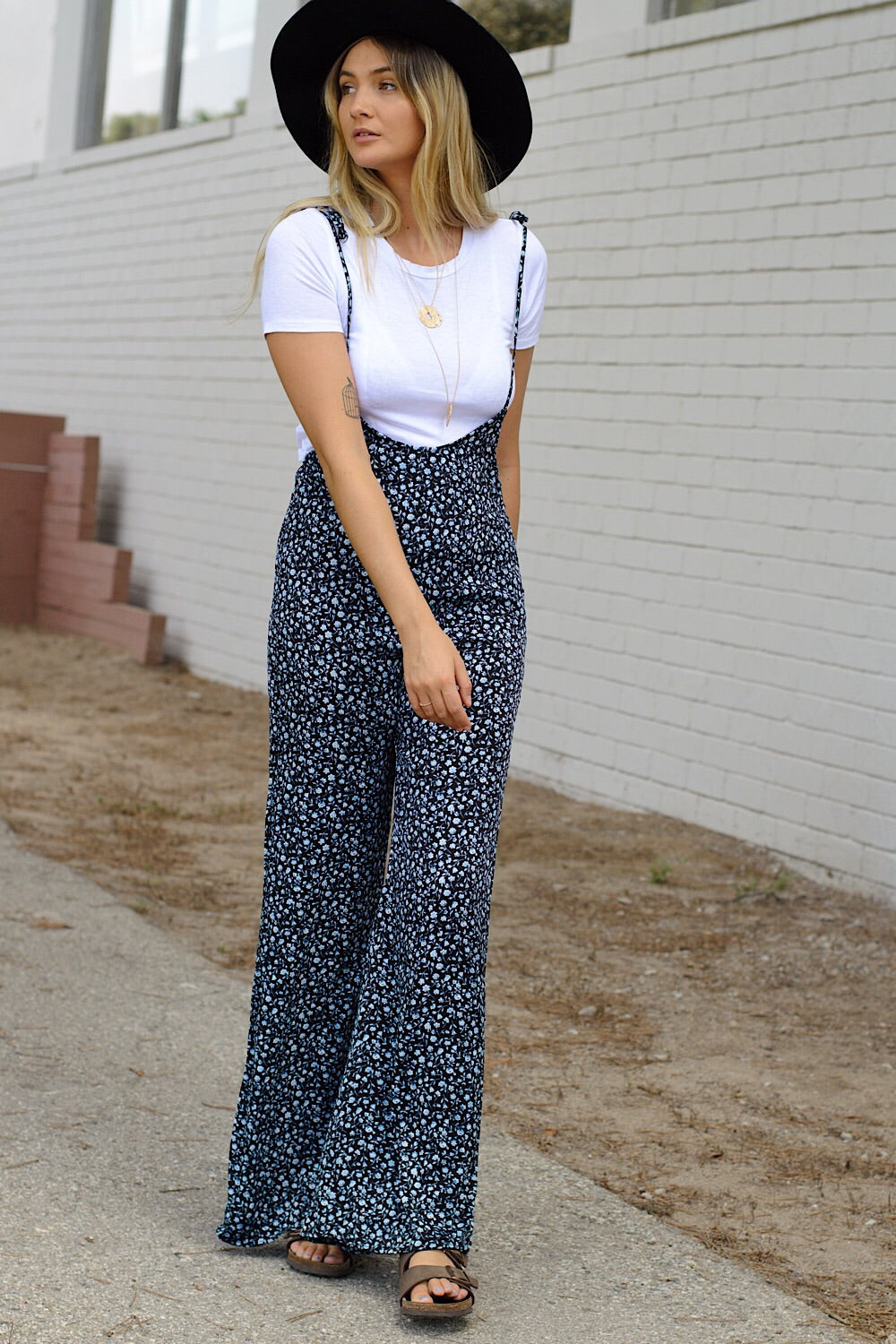 Secret Garden Tie Jumpsuit