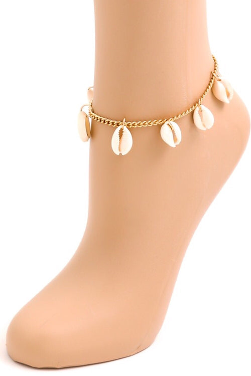 Malaga Cove Shell Charm Anklet