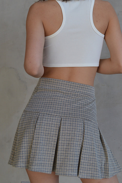 Del Mar Plaid Mini Tennis Skirt