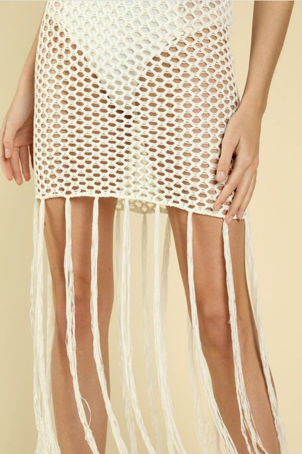 Palm Desert Crochet Fringe Dress