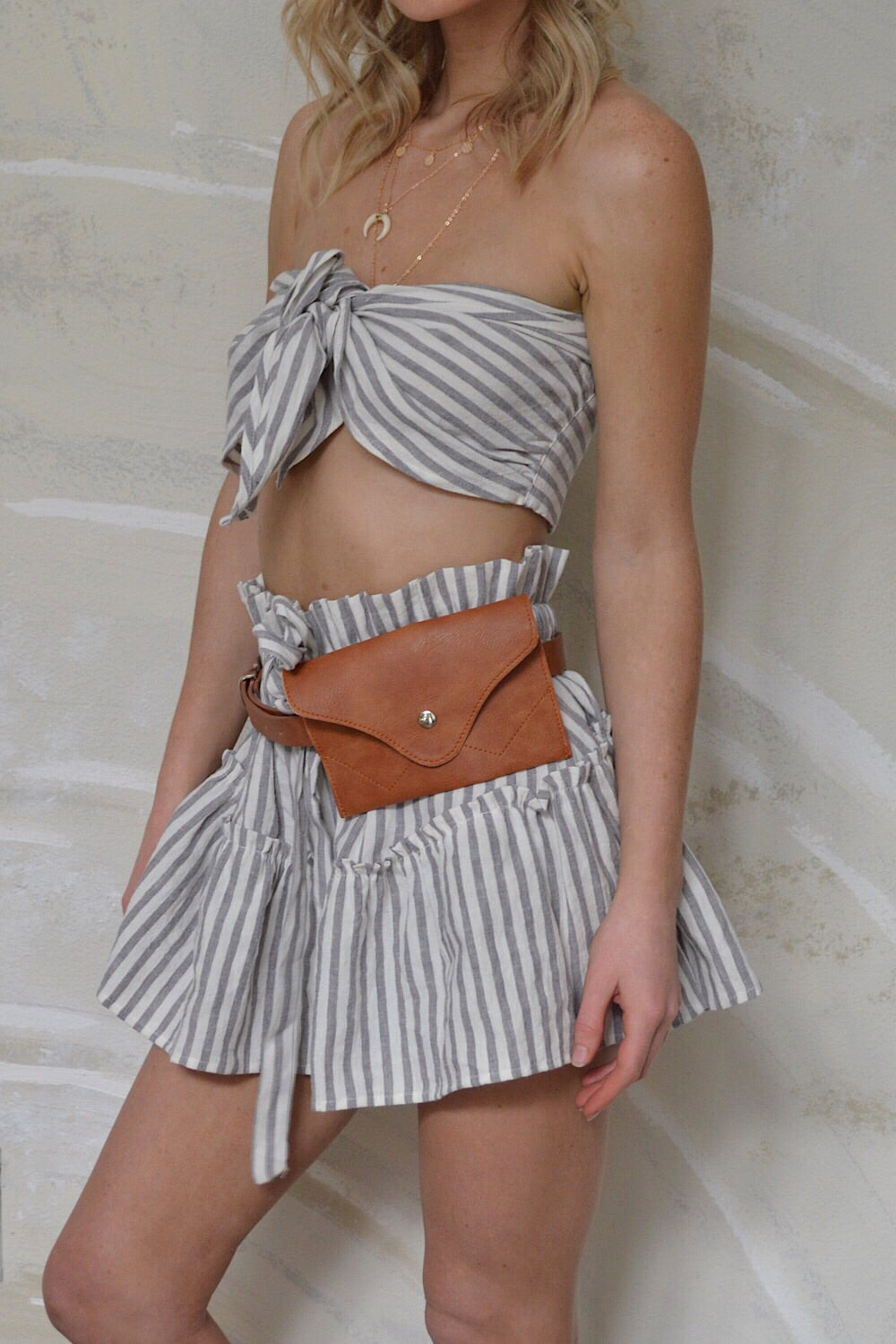Take the Yacht Striped Bandeau
